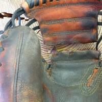 キャッチャーミット 捕球面側 ウエブ修理 ミシン 縫い ハタケヤマ 神奈川